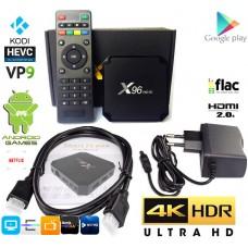 Mini PC z Androidom 7.1.2 Kodijem 18 predvajalnik 4K UHD X96 mini S905W 4 jedrni, RAM 1GB Pomnilnik 8GB
