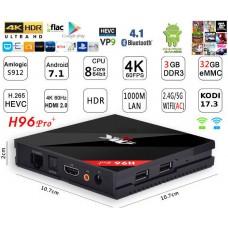 Mini PC Android 7.1 kodi 18.3 predvajalnik 4K UHD H96 Pro+S912 8 jedrni 3GB/32GB Android TV BOX