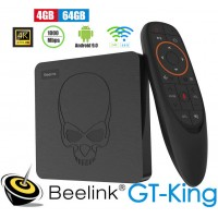 Android TV Beelink GT-King TV Box Android 9 multimedijski predvajalnik UHD 4K, 6 jedrni S922X, 4/64GB glasovno upravljanje