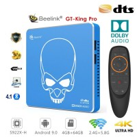 Android TV Beelink GT-King Pro TV Box Android 9 multimedijski predvajalnik UHD 4K, 6 jedrni S922X-H, 4/64GB glasovno upravljanje