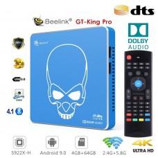 Android TV Beelink GT-King Pro TV Box Android 9 multimedijski predvajalnik UHD 4K, 6 jedrni S922X-H, WiFI6, 4/64GB glasovno upravljanje
