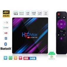 Android TV H96 MAX TV Box Android 10 multimedijski predvajalnik UHD 4K, 4 jedrni, 4/64GB