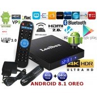 Mini PC Android 8.1 kodi 18.1 predvajalnik 4K UHD Leelbox 4Core 4GB/64GB Android TV BOX z LCD zaslonom