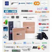 Android BOX Mecool KM6 Deluxe Edition Android 10 ATV Kodi 19+ Predvajalnik 4K UHD AV1 Amlogic S905X4 4/64GB Giga LAN WiFI 6