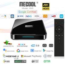 Mini PC Android 9 kodi 18 predvajalnik 4K UHD Mecool KM3 COLLECTIVE Amlogic S905X2 4 jedrni 4/64GB Android TV BOX