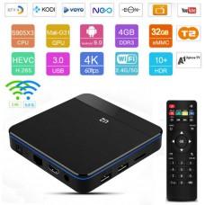 Android TV box Android 9 Kodi 18+ predvajalnik 4K UHD U2 S905X3 4 jedrni, RAM 4GB Pomnilnik 32GB, mini računalnik