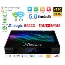 Android TV X88 King Hexa Core TV Box Android 9 multimedijski predvajalnik UHD 4K, 6 jedrni S922X, 4GB / 128GB glasovno upravljanje