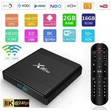Android TV box Android 9 Kodi 19+ predvajalnik 8K 4K UHD X96 Air S905X3 4 jedrni, RAM 2GB Pomnilnik 16GB, mini računalnik