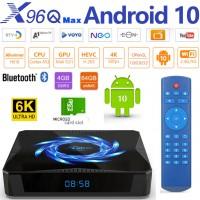 Android TV box Android 10 Kodi 18+ predvajalnik 6K 4K UHD X96Q MAX H616 4 jedrni, RAM 4GB Pomnilnik 64GB, mini računalnik