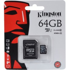 Kingston 64GB Micro SDXC class10  spominska kartica + SD adapter R45MB/s