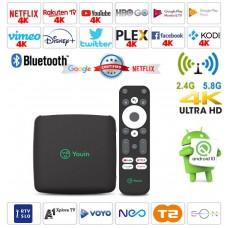 Android Box EN1040K Android 10 predvajalnik UHD do 8K, USB 3, USB C, LAN 10/100, MicroSD, 4 jedrni, 2/8GB glasovno upravljanje
