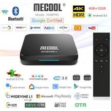 Mini PC Android 9 kodi 18 predvajalnik 4K UHD Mecool KM9PRO DELUXE Amlogic S905X2 4 jedrni 4GB/32GB Android TV BOX