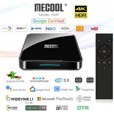 Mini PC Android 9 kodi 18 predvajalnik 4K UHD Mecool KM3 COLLECTIVE Amlogic S905X2 4 jedrni 4/64GB Android TV BOX