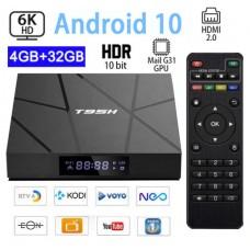 Android TV BOX Androidom 10 Kodi 18.9+ predvajalnik 6K UHD T95H 4 jedrni, RAM 4GB Pomnilnik 32GB