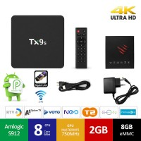 Mini PC Android 9.0 kodi 18.9 predvajalnik 4K UHD TX9s S912 8Core 2GB/8GB Android TV BOX