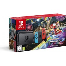 Nintendo Switch Neonsko rdeč-moder in Mario Kart Deluxe 8
