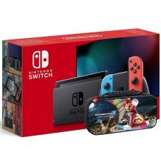Nintendo Switch Neonsko V2 Rdeč/moder kontroler + torbica
