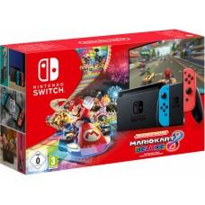Nintendo Switch V2 Neonsko rdeč-moder in DLG Mario Kart Deluxe 8