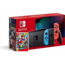 Nintendo Switch Neonsko rdeč-moder V2 in Super Mario Odyssey