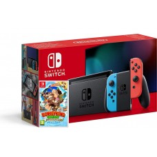 Nintendo Switch Neonsko V2 rdeč-moder J-C kontroler in Donkey Kong Country Tropical Freeze
