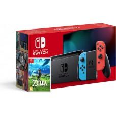 Nintendo Switch V2 Neonsko rdeč-moder in Zelda