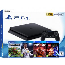 SONY igralna konzola Playstation 4 Slim 500GB otroški komplet 4 igre Minecraft, FIFA 18, NBA 2K20 in Lego Star Wars