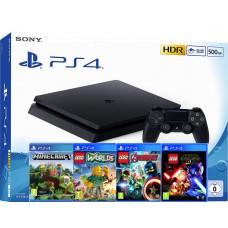 SONY igralna konzola Playstation 4 Slim 500GB otroški komplet 4 igre Minecraft in Lego