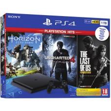 SONY igralna konzola Playstation 4 Slim 1TB in 3 igre Playstation Hits