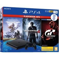 SONY Playstation 4 Slim 1TB konzola z Gran Turismo Sport, Uncharted 4 in Horizon Zero Dawn