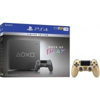 SONY igralna konzola Playstation 4 Slim 1TB Days Of Play Limited Edition in dodatni zlat kontroler