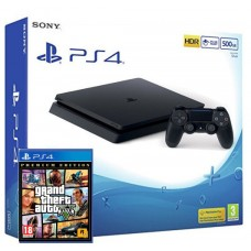 SONY igralna konzola Playstation 4 Slim 500GB in GTA 5 Grand Theft Auto 5 (V) Premium Edition
