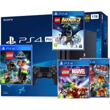 Rabljena SONY igralna konzola Playstation 4 PRO 1TB Otroški komplet z 4 Lego igrami