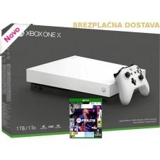 Microsoft igralna konzola XBOX ONE X 1TB in FIFA 21 4K UHD HDR bela