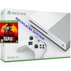 Microsoft igralna konzola XBOX ONE S 500GB in Red Dead Redemptin 2 RDRII