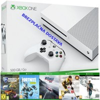Microsoft igralna konzola XBOX ONE S 500GB in Fortnite Deep Freeze + 4 igre