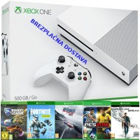 Microsoft igralna konzola XBOX ONE S 500GB in Fortnite Deep Freeze + 4 igre