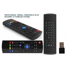 MX3 brezžični daljinec USB z funkcijo prostorske miške, tipkovnice in IR daljinca, glasovni ukazi in IR učenjem