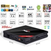Mini PC Android 7.1 kodi 17.6 predvajalnik 4K UHD H96 Pro+S912 8 jedrni 3GB/32GB Android TV BOX