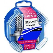 NEOLUX HAMMER avtomobilskI žarnici 2 kosa H4 12V 55W P43t N472EL DUOBOX
