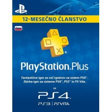 Playstation Plus naročnina za 12 mesecev SLO