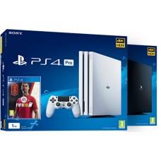 SONY igralna konzola Playstation 4 PRO 1TB v beli barvi in FIFA 18