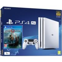 SONY igralna konzola Playstation 4 PRO 1TB v beli in God Of War Day One Edition