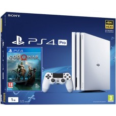 SONY igralna konzola Playstation 4 PRO 1TB v beli in God Of War Day One Edition