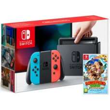 Nintendo Switch Neonsko V2 rdeč-moder in Donkey Kong Country Tropical Freeze