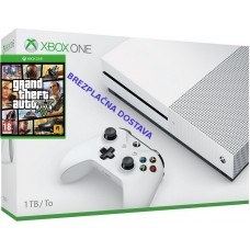 Microsoft igralna konzola XBOX ONE S 500GB in Grand Theft Auto GTA 5 (V) + darilo