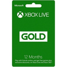XBOX LIVE GOLD 12 mesečna naročnina