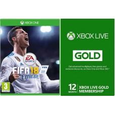 XBOX ONE FIFA 18 in 3 mesečna GOLD naročnina
